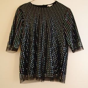 H&M Black and Sequin Blouse
